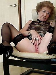 Alluring old chicks were drilled hard