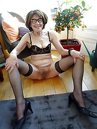 Hairy granny whore for your pleasure