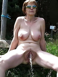 Delicious aged MILF is revealing her holes