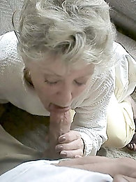 Granny still knows what to do with a stiff dick...