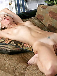 Lascivious older dame seems exposed